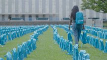 Backpack Graveyard At United Nations Brings Attention To Child Deaths