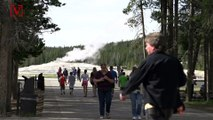 Two Yellowstone Park Visitors Charged for Being Too Close to Old Faithful Geyser