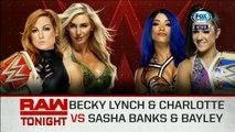 WWE Raw:  Becky Lynch & Charlotte Flair vs. Sasha Banks & Bayley | Español Latino HD