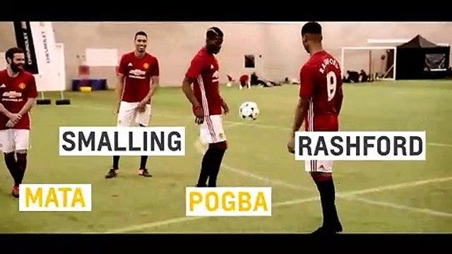 Shoot-Out Challenge w. Paul Pogba, Juan Mata, Marcus Rashford & Chris Smalling