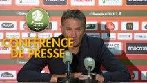 Conférence de presse RC Lens - Châteauroux (1-0) : Philippe  MONTANIER (RCL) - Nicolas USAI (LBC) - 2019/2020