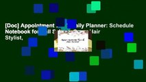 [Doc] Appointment Book Daily Planner: Schedule Notebook for Nail Salons, Spas, Hair Stylist,