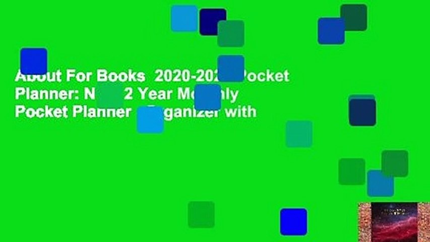 About For Books  2020-2021 Pocket Planner: Nifty 2 Year Monthly Pocket Planner   Organizer with