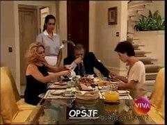 Novela Por Amor 1997 Branca aponta uma faca pra Milena