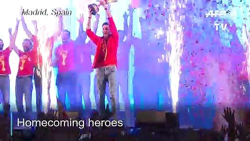 Spain celebrates basketball World Cup win