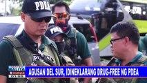 Agusan del Sur, idineklarang drug-free ng PDEA