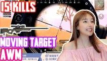 刺激战场:打活动靶Pubg Lisa的AWM有点东西啊15杀凶猛主播【宝子】和平精英PUBG Mobile
