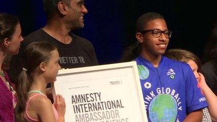 Greta Thunberg receives Amnesty human rights award