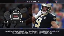 5 Things - Brees' streak as Saints starting QB is over