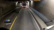 Cycliste imprudent vs Camion dans un tunnel