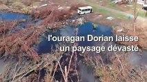 Vue aérienne de Grand Bahama, dévastée par l'ouragan Dorian