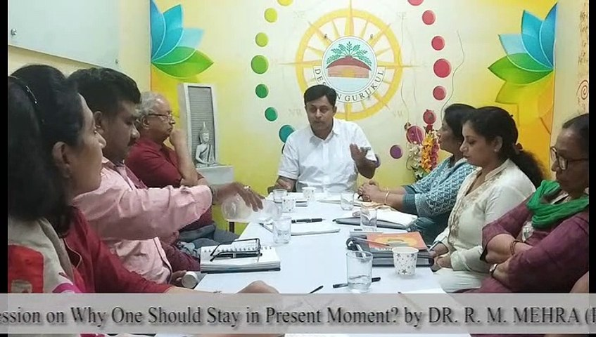 Atmamanthan session on why one should stay in present moment -Design Gurukul