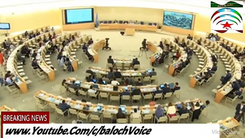 karima Baloch Highlighting Human Rights Situation In Balochistan On 42nd UNHCR Session 16/9/2019