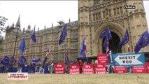 Confrontation entre les manifestants pour et contre le Brexit