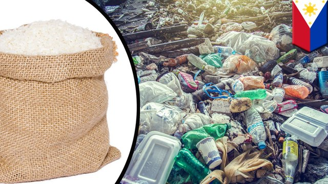Filipino village exchanges plastic waste for rice