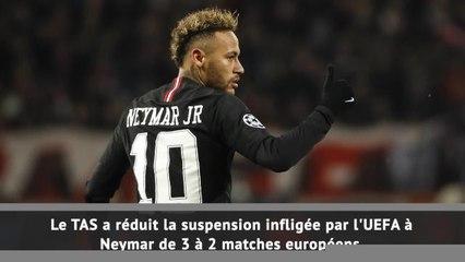 PSG - La suspension de Neymar réduite à 2 matches