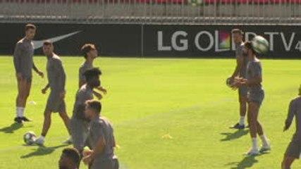 Groupe D - Joao Felix et Diego Costa s'amusent bien à l'entraînement