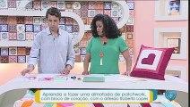 Aprenda a fazer uma almofada de patchwork, com bloco de coração, com o artesão Roberto Lopes