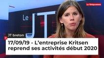 JT Breton du 17 septembre 2019 : L'entreprise Kritsen reprend ses activités début 2020
