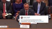 Trump Thanks Corey Lewandowski For 'A Beautiful Opening Statement'