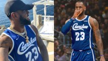 Lebron James Rocks Nipsey Hussle Throwback Jersey HINTING AT Lakers New Season Gear
