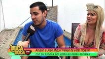 Juan Miguel Vallejo  y María del Mar Santos molestos con página de farándula