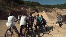 Mountainbike spectacle Audi Nines at the Ellweiler quarry