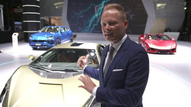 Mitja Borkert, Head of Centro Stile, presents the new Lamborghini Sián FKP 37