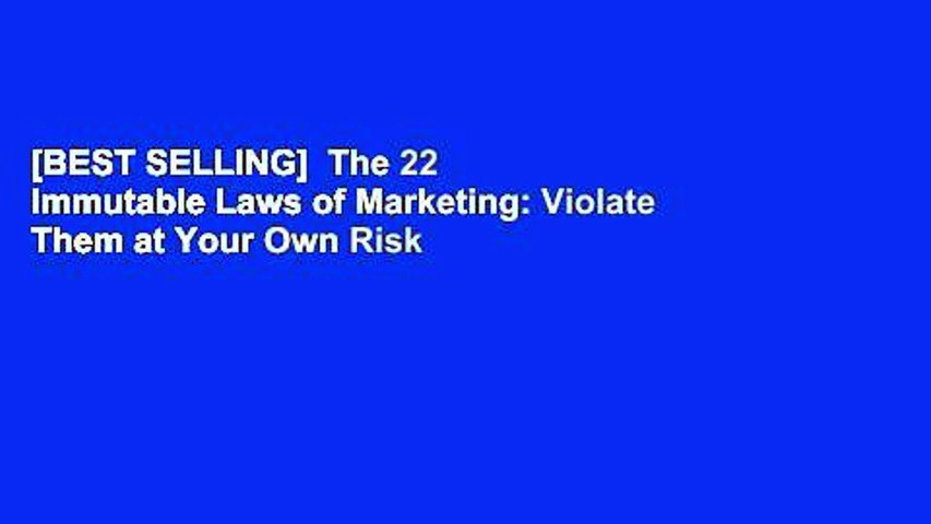 [BEST SELLING]  The 22 Immutable Laws of Marketing: Violate Them at Your Own Risk