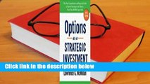 About For Books  Options as a Strategic Investment Complete