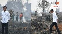 """"""" Satu kebakaran kecil, padam"""" Jokowi kecewa jentera pemerintah"""