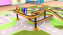 Superheroes Garage fixing Monster Truck Water Slide Colors for Kids Nursery Rhymes for Children