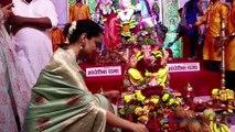 Balraj Syal Along With Amruta Khanvilkar Visit Andheri Cha Raja For Darshan