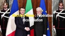 Macron à Rome : l'opération réconciliation