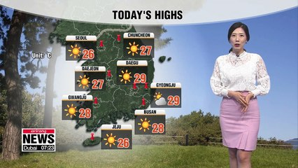 Fine autumn weather but gets cooler this afternoon