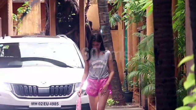 Ananya Pandey and Kartik Aaryan Spotted at The Space Dance Rehearsal Hall Juhu