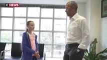 «Toi et moi, on forme une équipe» : Barack Obama a reçu Greta Thunberg à Washington