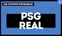 PSG - Real Madrid : les compositions probables
