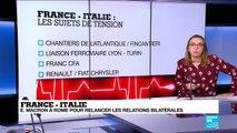 Emmanuel Macron se rend en Italie pour relancer les relations bilatérales