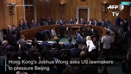 HK's Joshua Wong takes cause to US Congress, urges pressure on Beijing