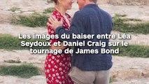 Les images du baiser entre Léa Seydoux et Daniel Craig sur le tournage de James Bond !