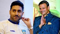 Abhishek Bachchan receives sweet message from Vivek Oberoi after Big Bull poster | FilmiBeat