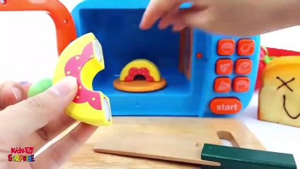 Microwave Surprise Cutting Fruit and Squishy Watermelon Banana Strawberry nursery rhymes for kids