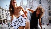 Milano Fashion Week, protesta animalista a Milano di Daniela Martani: 'Questo orrore deve finire'