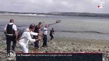 Découvrez les images impressionnantes d'un couple d'octogénaires qui s'est fait surprendre par la marée montante et s'est retrouvé piégé dans la vase au Touquet