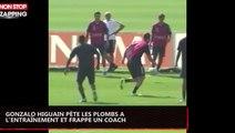 Gonzalo Higuain pète les plombs à l'entraînement et frappe un coach (vidéo)