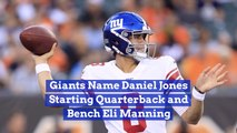 Daniel Jones Is Now A Starting Quarterback