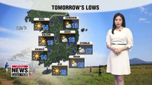 Bright and refreshing weather tomorrow