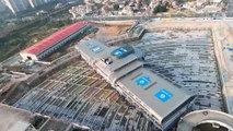 Chinese 30,000-tonne bus terminal lifted and moved in world record feat of engineering