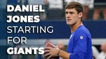 Daniel Jones is now the starter for the New York Giants